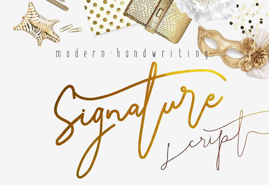 Download Signature Script Modern Handwriting font (typeface)