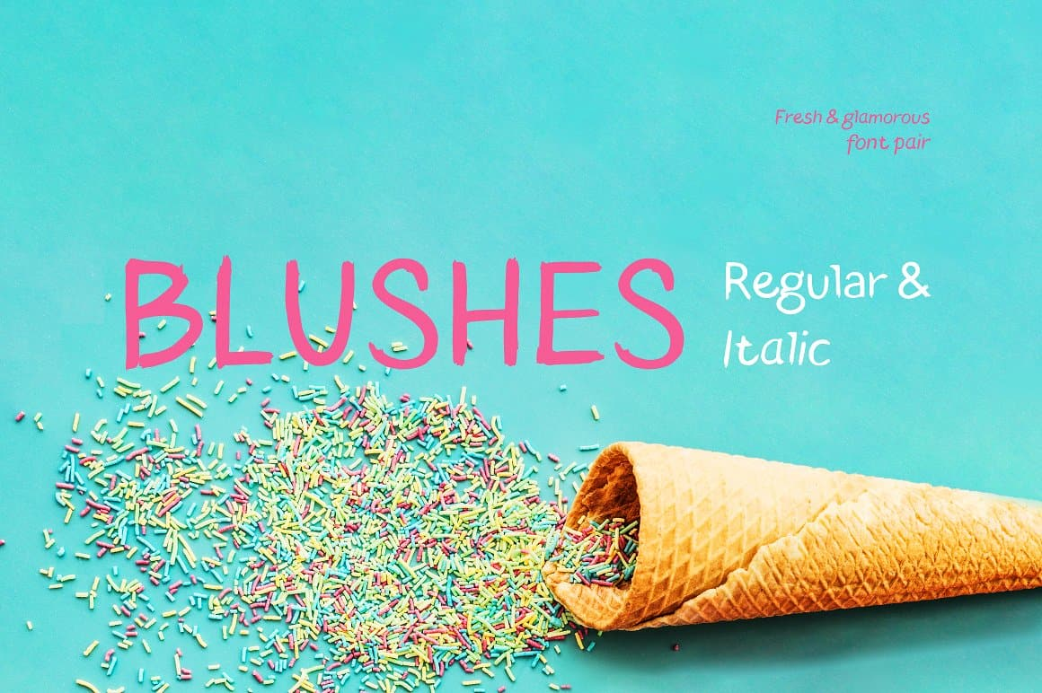 Download Blushes — Regular & Blushes Italic font (typeface)