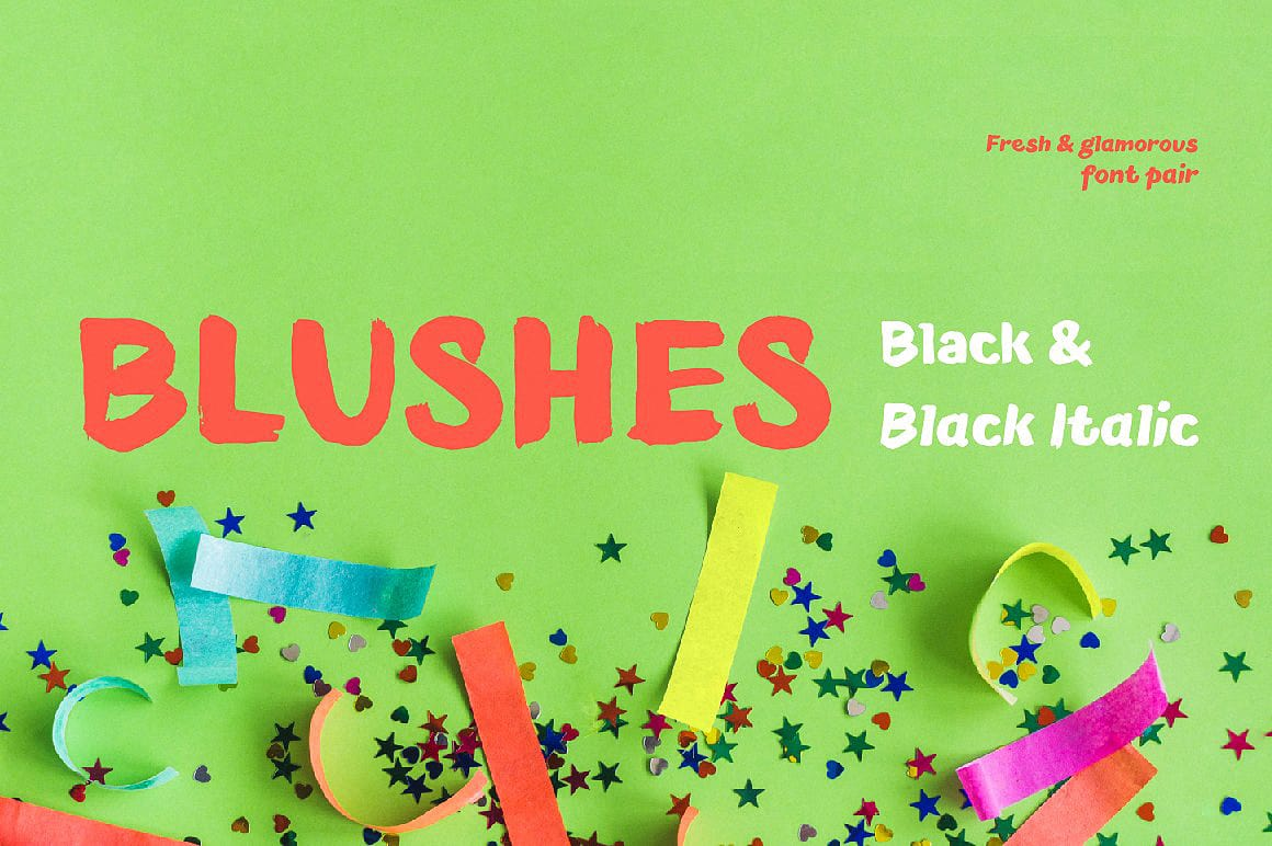 Download Blushes—Black & Black Italic font (typeface)
