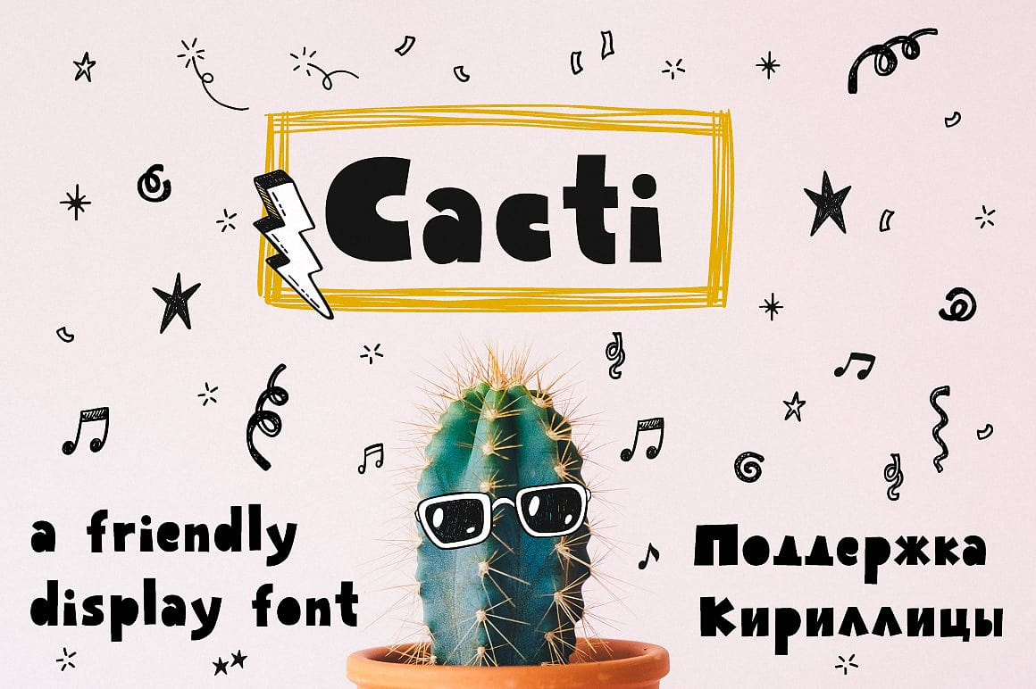 Download Cacti display font (typeface)