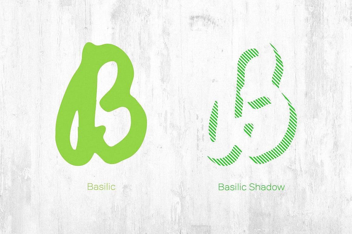 Download Basilic & Basilic Shadow font (typeface)