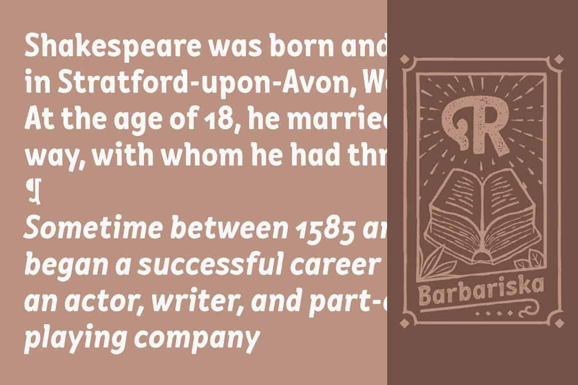 Download Barbariska font (typeface)