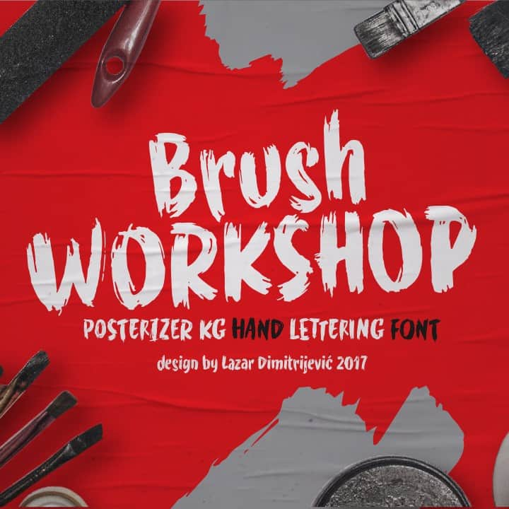 Download WORKSHOP Brush font (typeface)