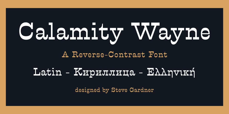 Download Calamity Wayne font (typeface)
