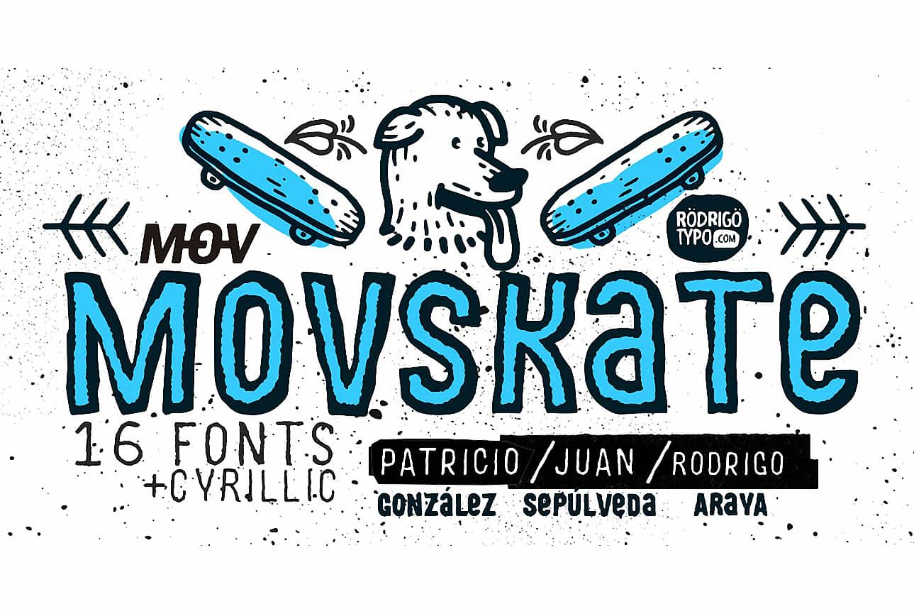 Download MOVSKATE (Cyrillic) font (typeface)