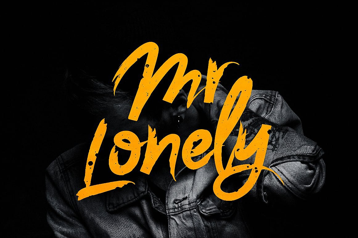 Download Mr. Lonely font (typeface)