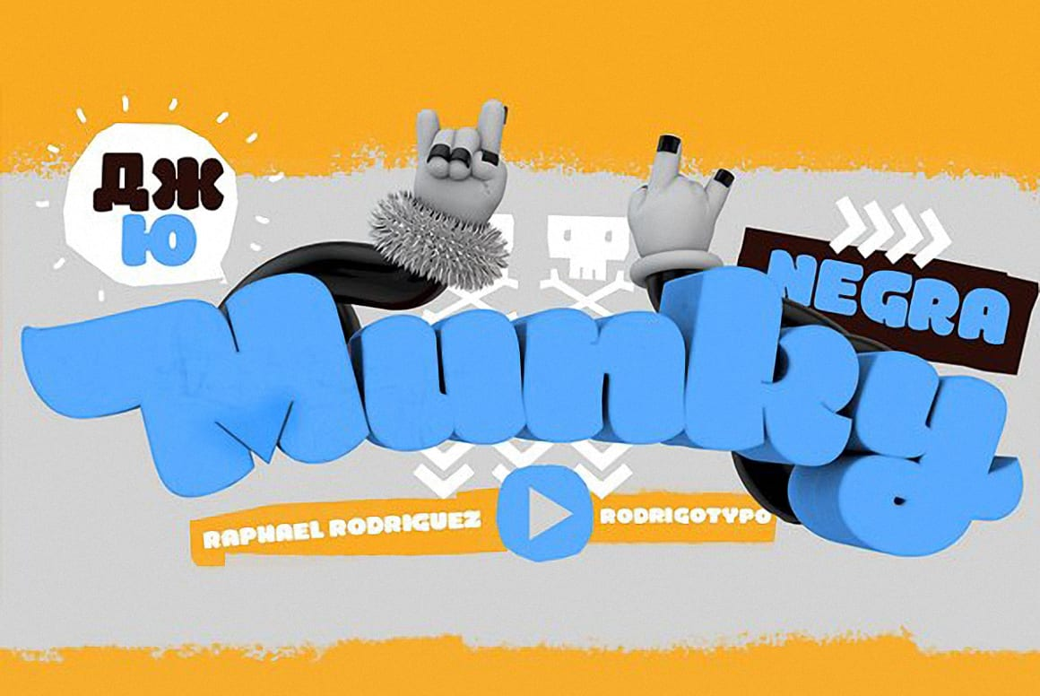 Download Munky Negra font (typeface)