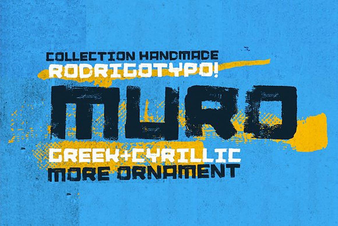 Download Muro (Ornament, Cyrillic, Greek) font (typeface)
