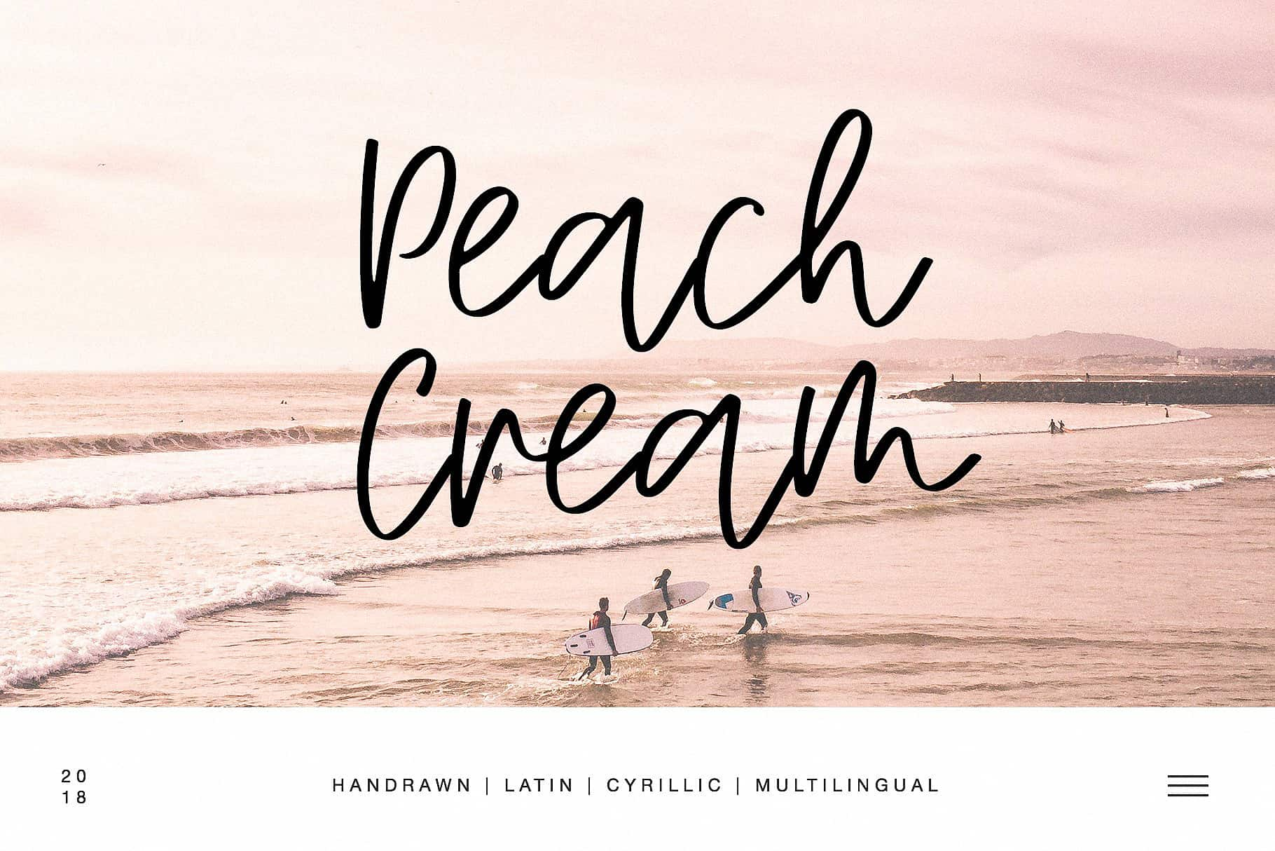 Download Peach Cream Latin & Cyrillic font (typeface)