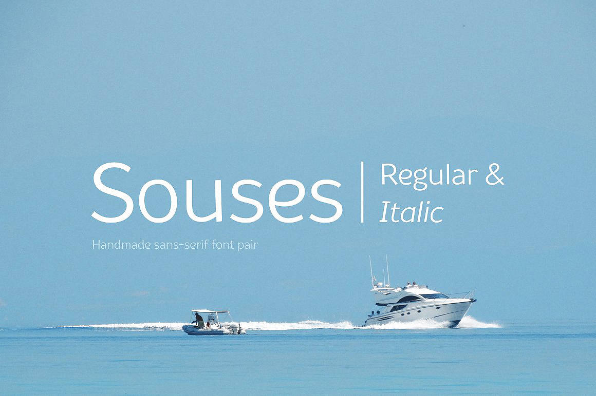 Download Souses (Regular & Italic) font (typeface)