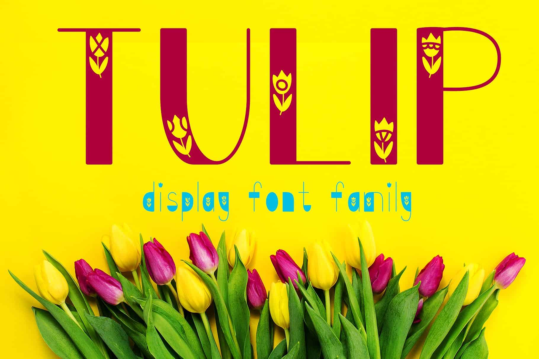 Download Tulip Family font (typeface)