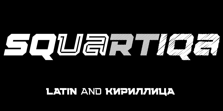 Download Squartiqa 4F font (typeface)