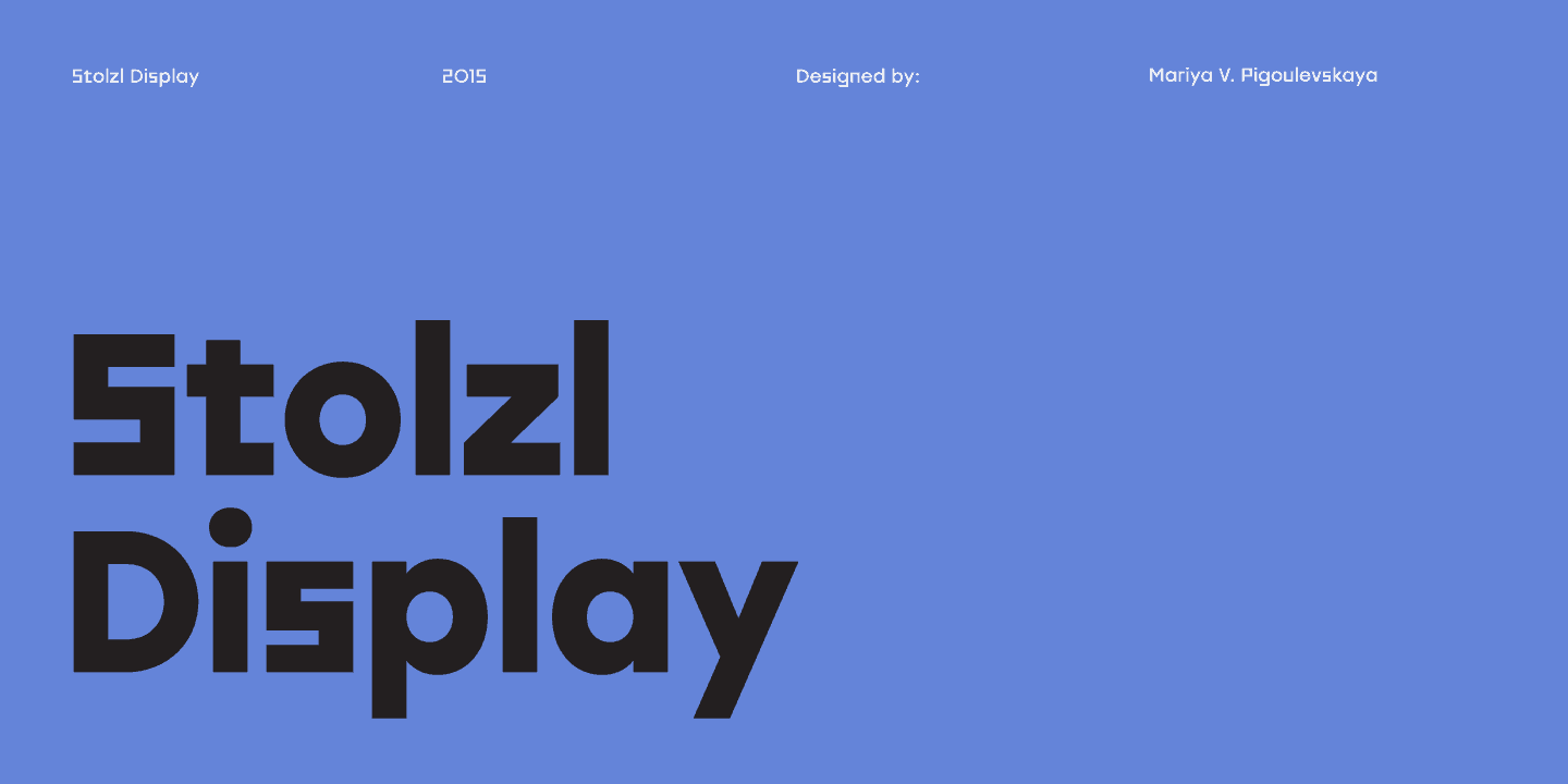 Download Stolzl Display font (typeface)