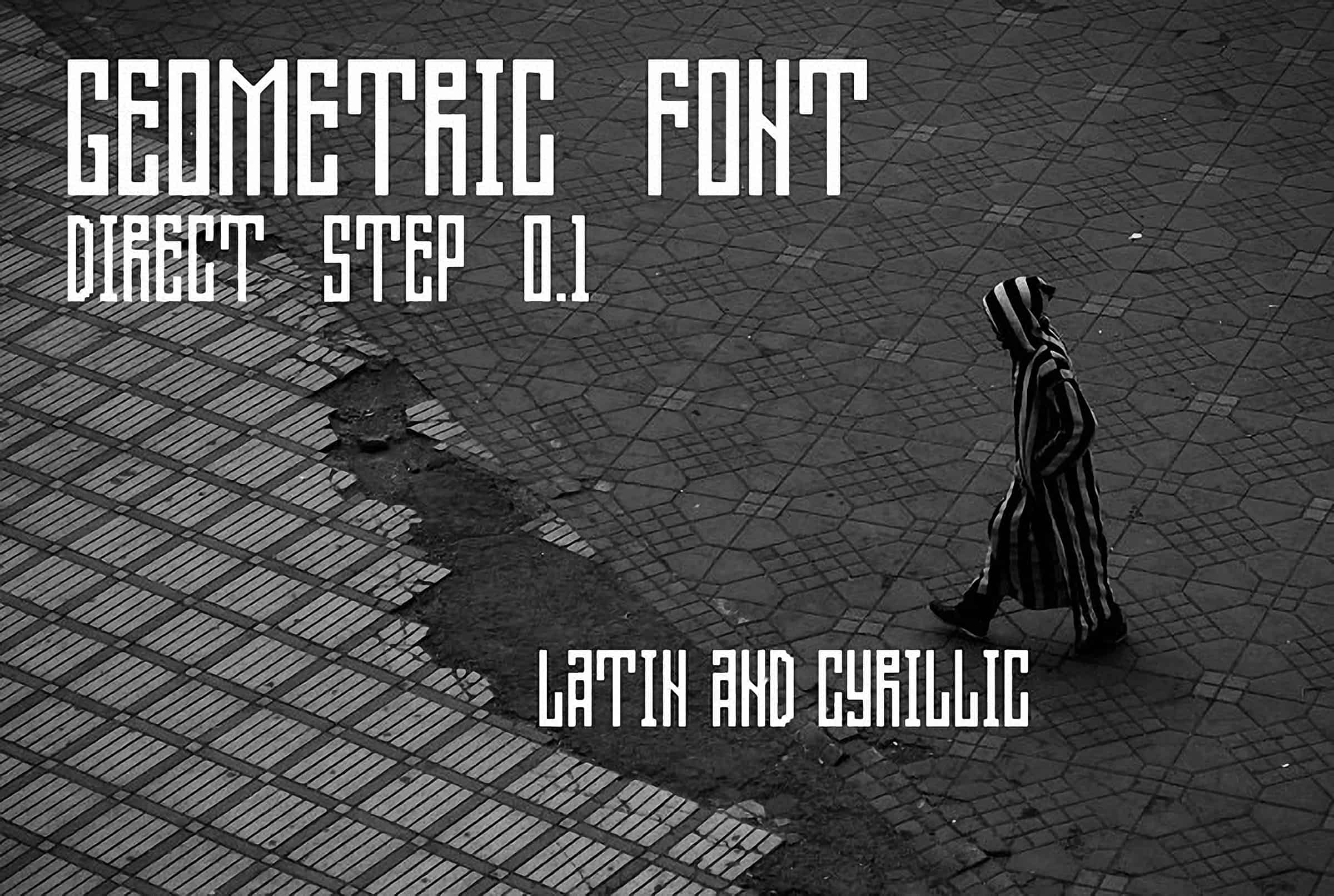 Download Direct step 0.1 Geometric font (typeface)