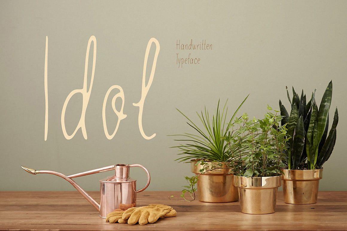 Download Idol (handwritten) font (typeface)