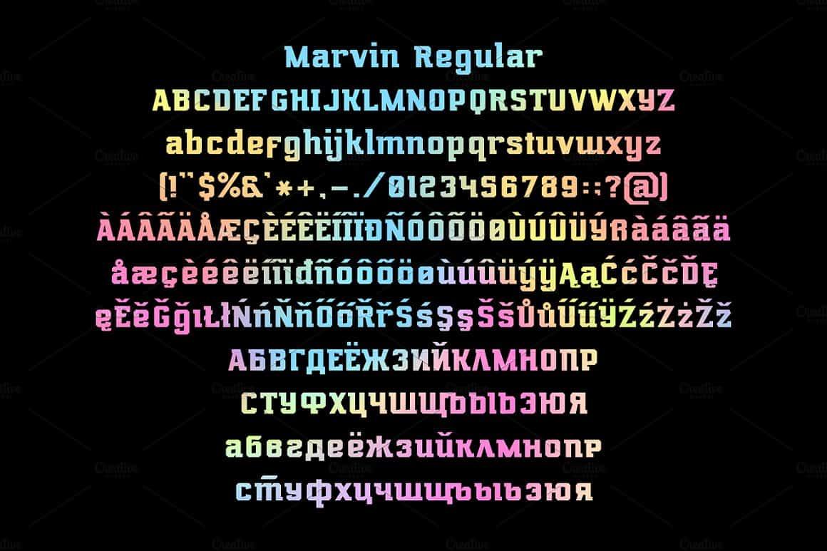 Download Marvin regular & oblique font (typeface)