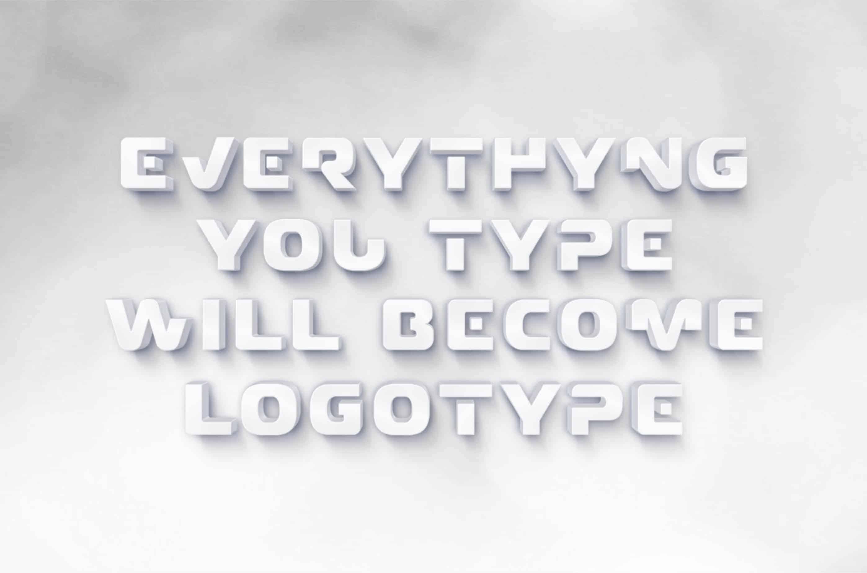 Download Claudio - Logo font (typeface)
