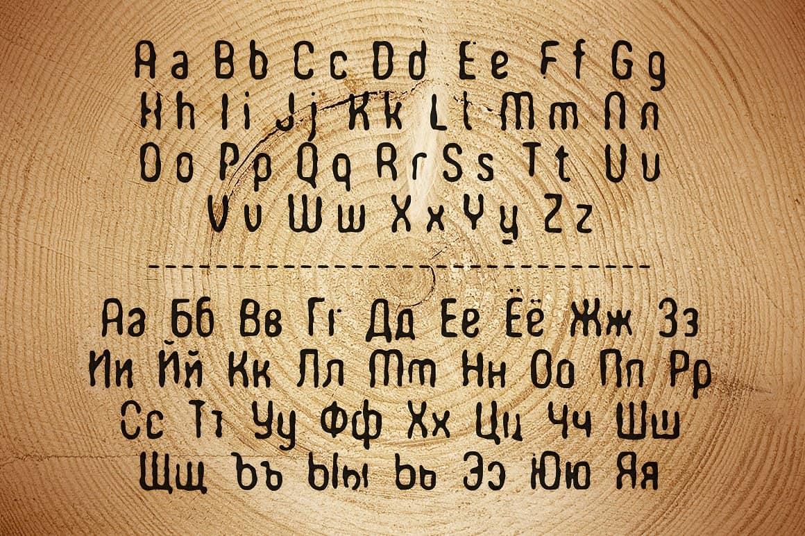 Download WOODBURN font (typeface)