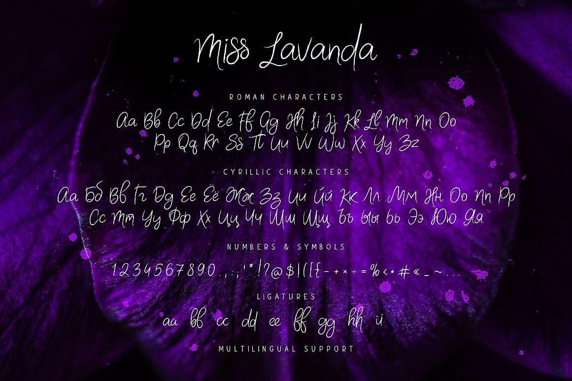 Download Miss Lavanda font (typeface)