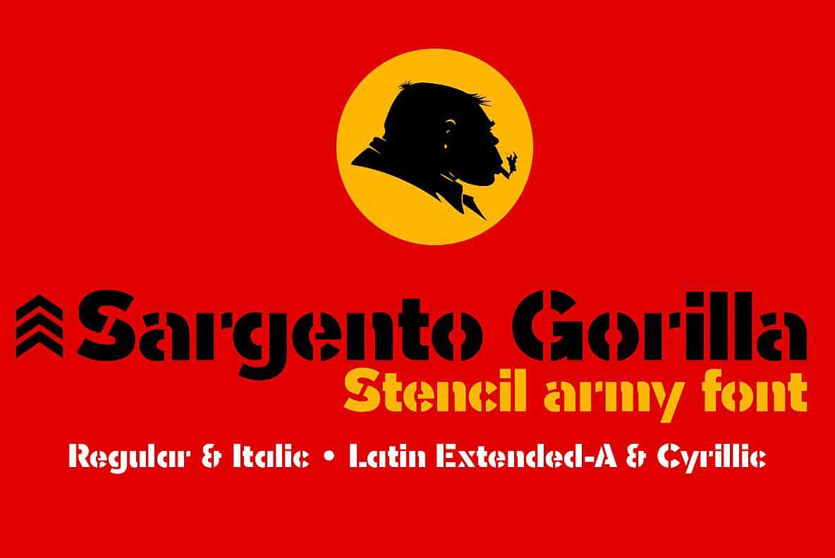Download Sargento Gorila font (typeface)