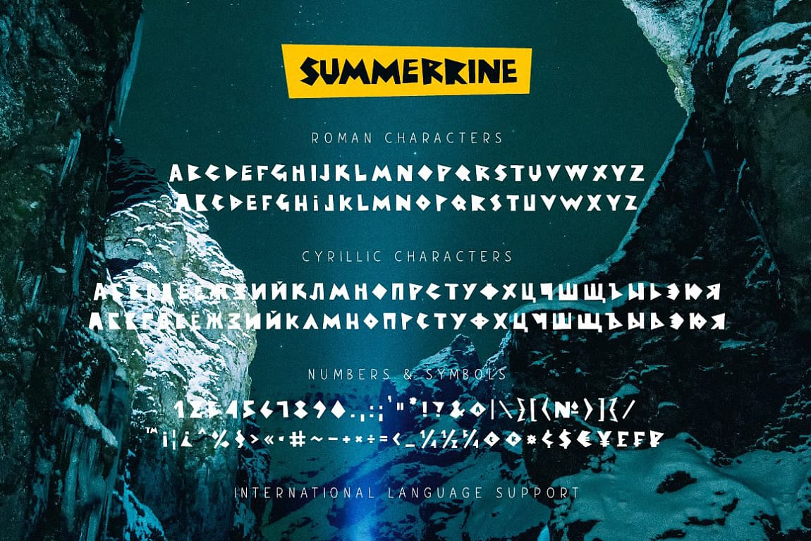 Download Summerrine font (typeface)