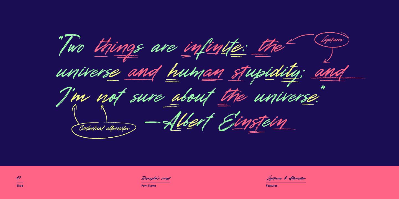 Download Disruptor's Script font (typeface)