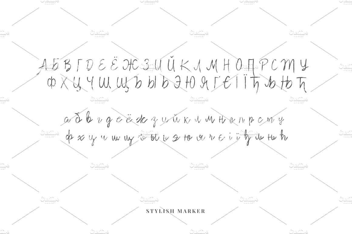 Download Stylish Marker font (typeface)