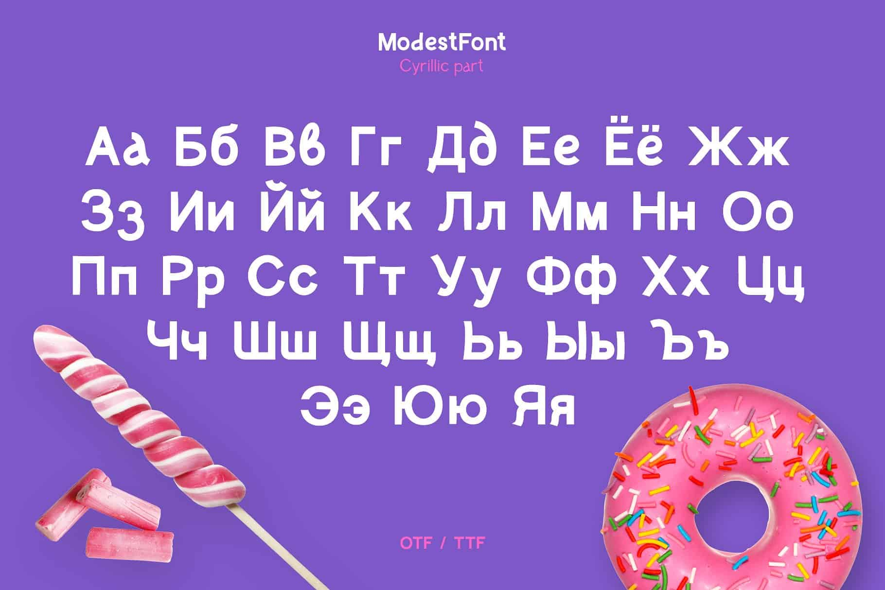 Download Modest font (typeface)