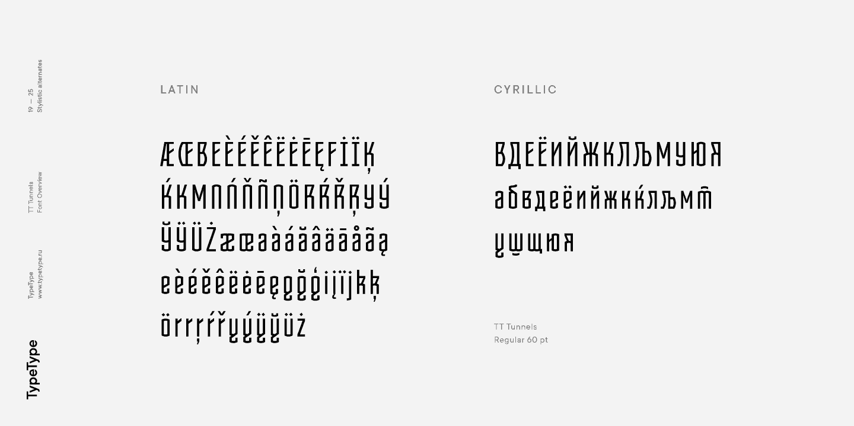 Download TT Tunnels font (typeface)