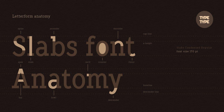 Download TT Slabs Condensed font (typeface)