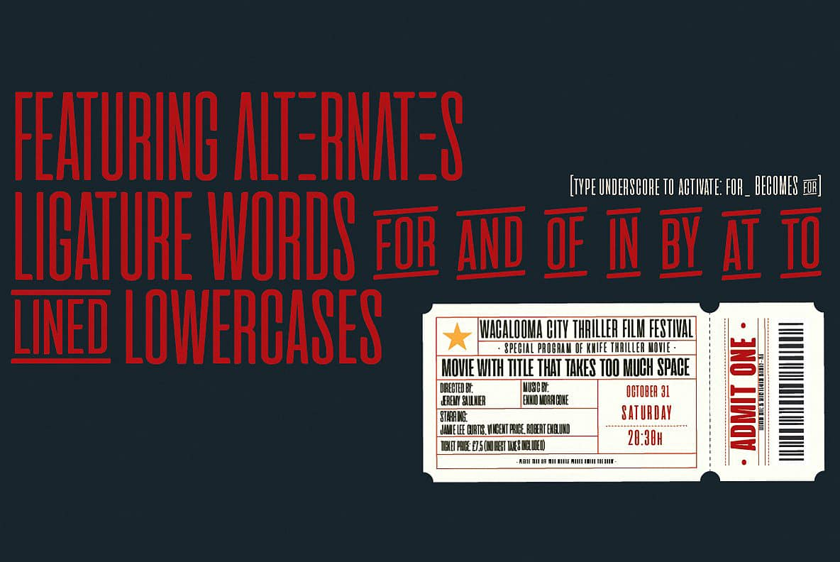 Download Cinematografica - Intro Offer font (typeface)