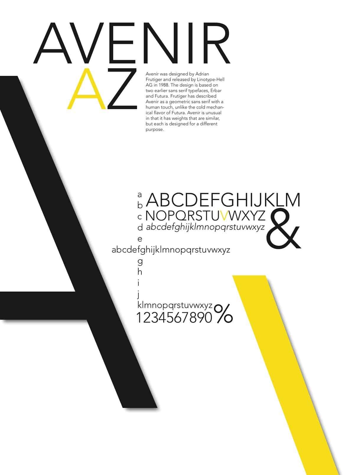 Download Avenir 1988 - Adrian Frutiger font (typeface)