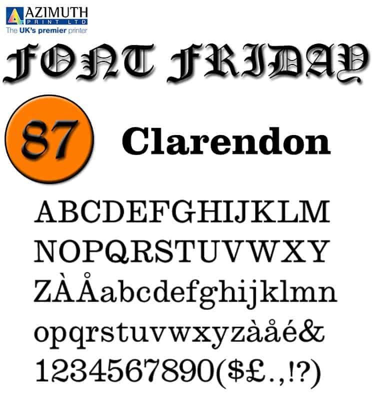 Download Clarendon     [1845 - Benjamin Fox] font (typeface)