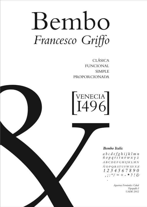 Download Bembo     [1496 - Francesco Griffo] font (typeface)