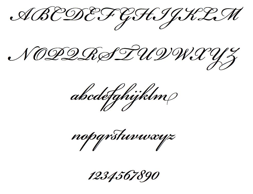 Download Bickham Script     [1997 - Richard Lipton] font (typeface)
