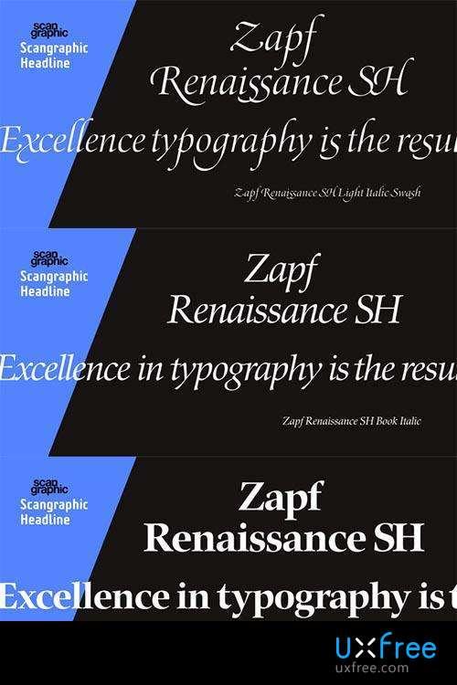 Download Zapf Renaissance PS     [1984 - Hermann Zapf] font (typeface)