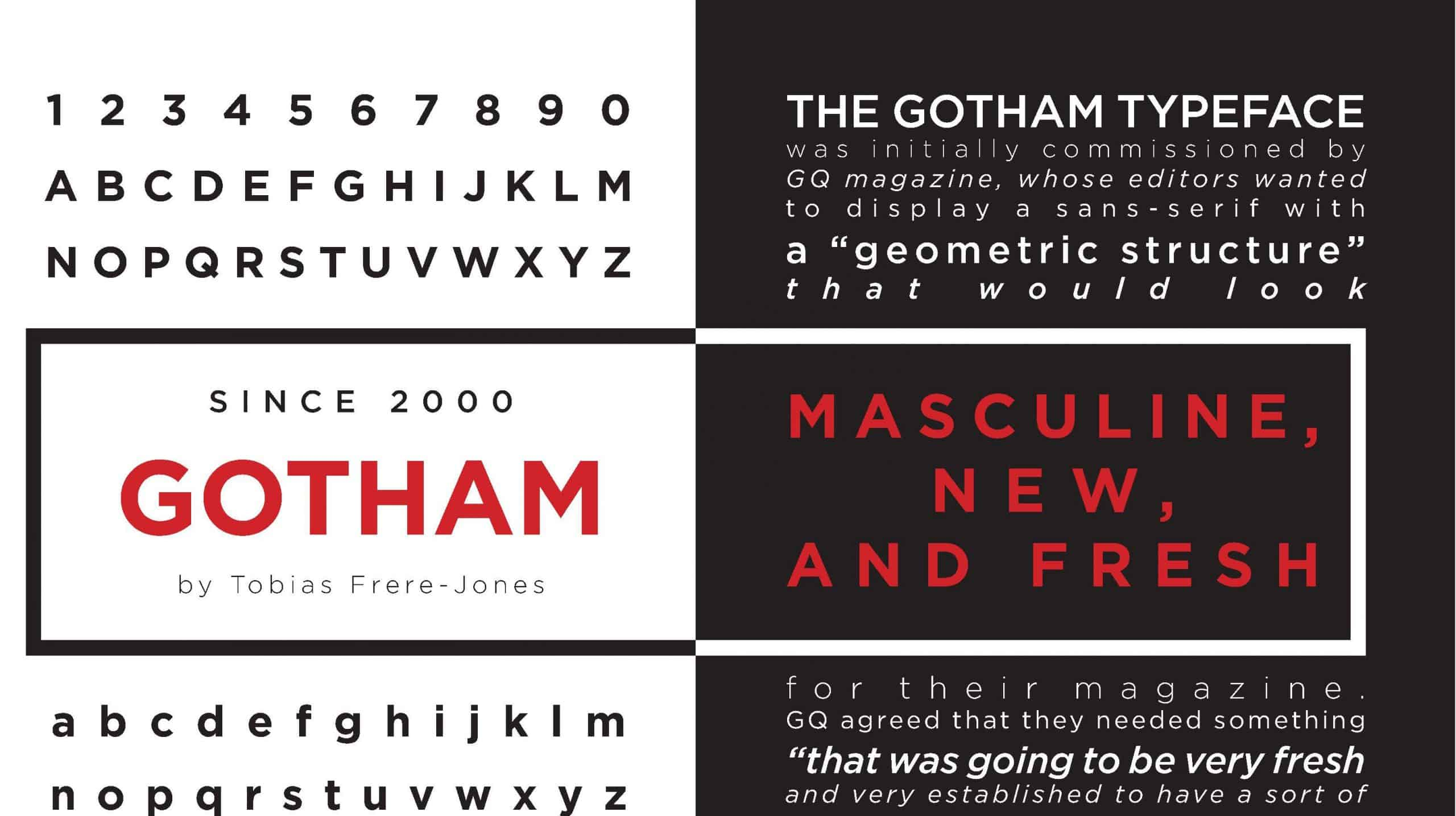 Download Gotham [2000 - Tobias Frere-Jones] font (typeface)
