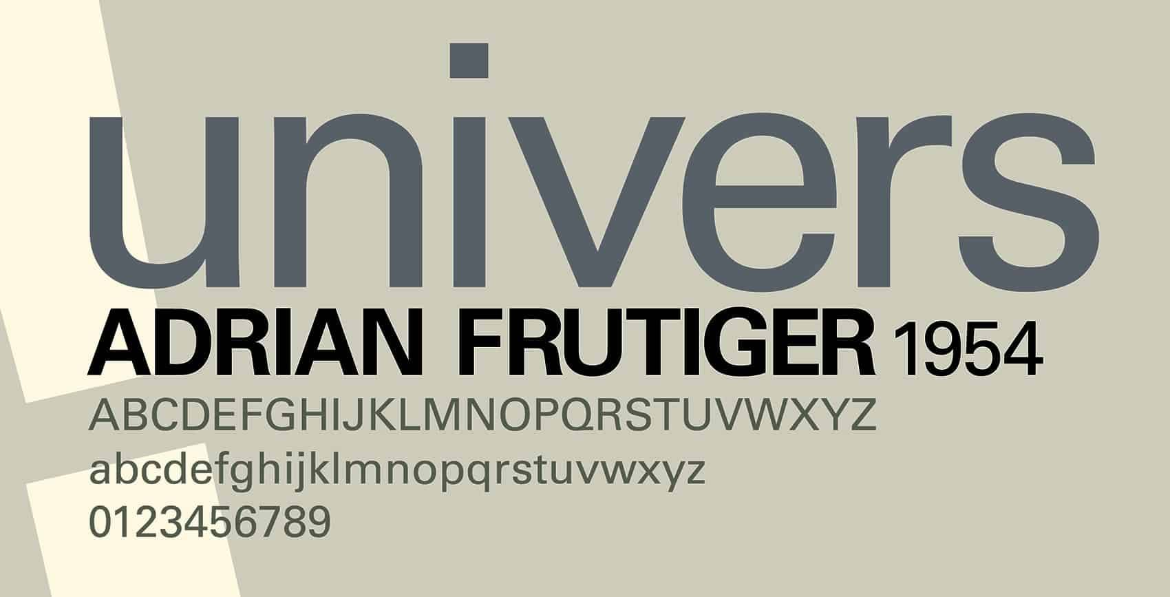 Download Univers     [1954 - Adrian Frutiger] font (typeface)