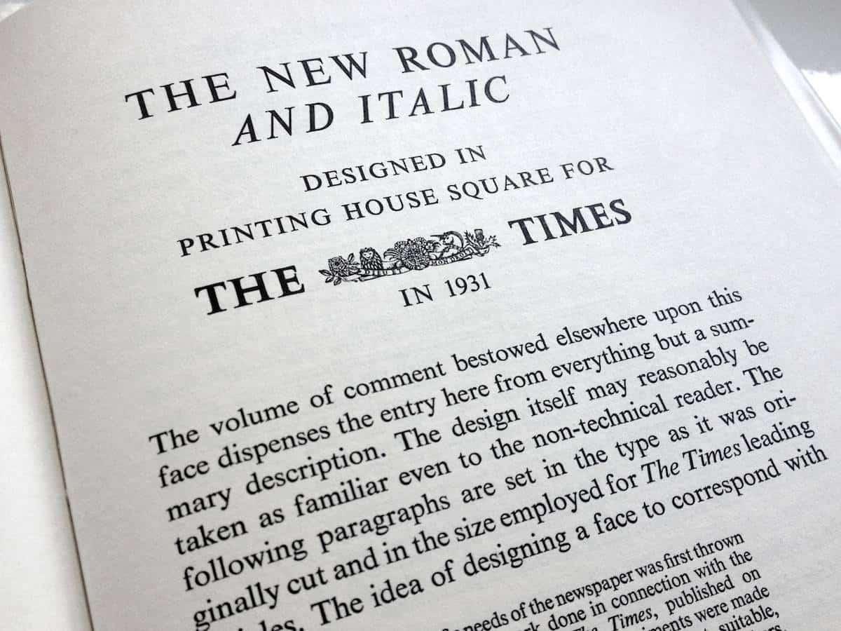 Download Times     [1931 - Stanley Morison] font (typeface)