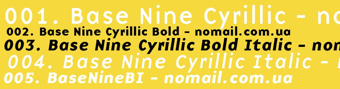 Download Base 1995 - Zuzana Licko font (typeface)