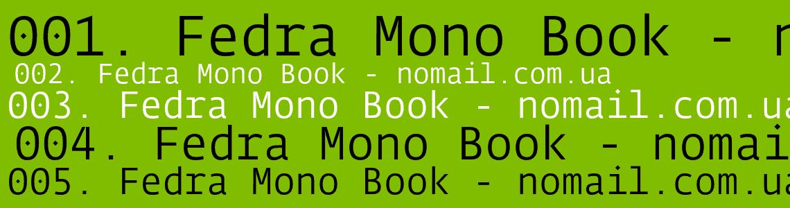 Download Fedra     [2002 - Peter Bil'ak] font (typeface)