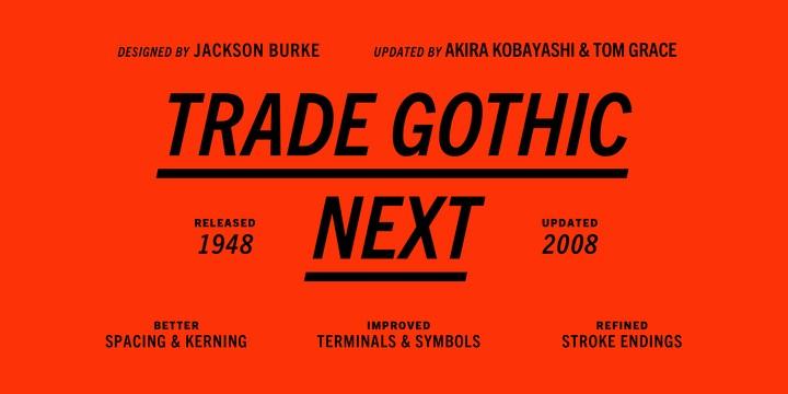 Download Trade Gothic [1948 - Jackson Burke] font (typeface)