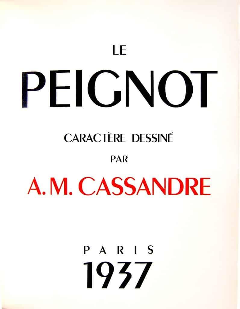 Download Peignot     [1937 - A. M. Cassandre] font (typeface)