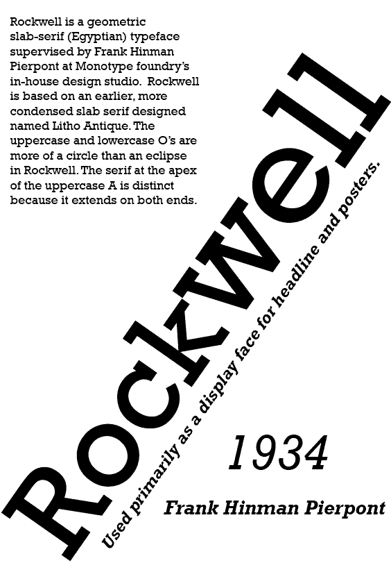 Download Rockwell     [1934 - Frank H. Pierpont] font (typeface)