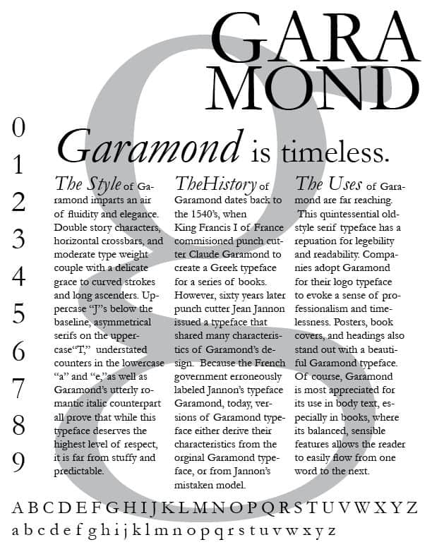 Download Garamond     [1530 - Claude Garamond] font (typeface)