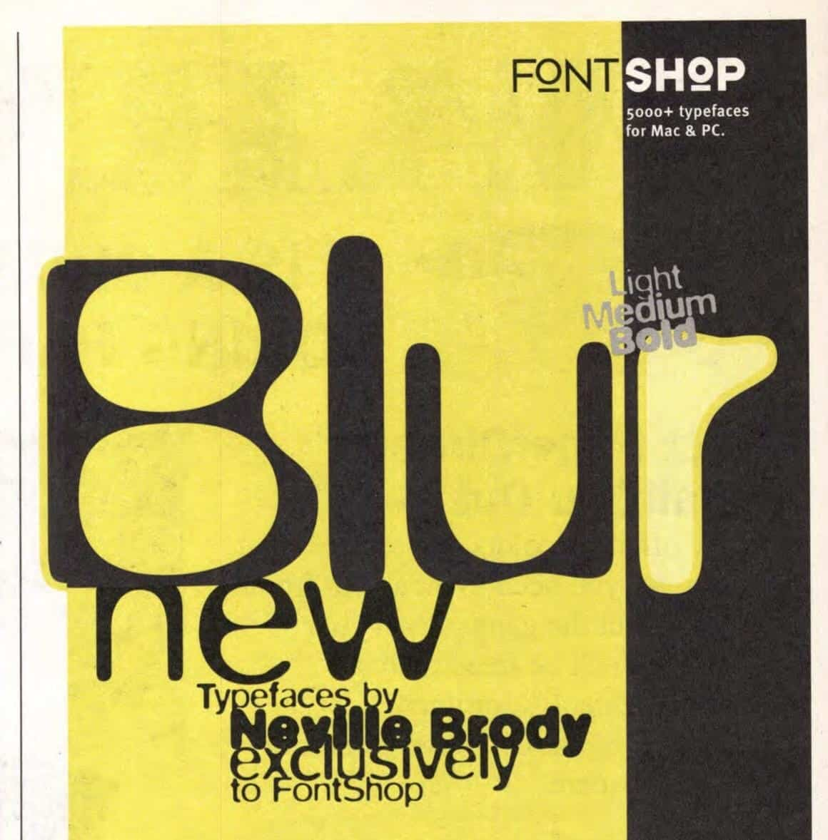 Download Blur PS     [1992 - Neville Brody] font (typeface)