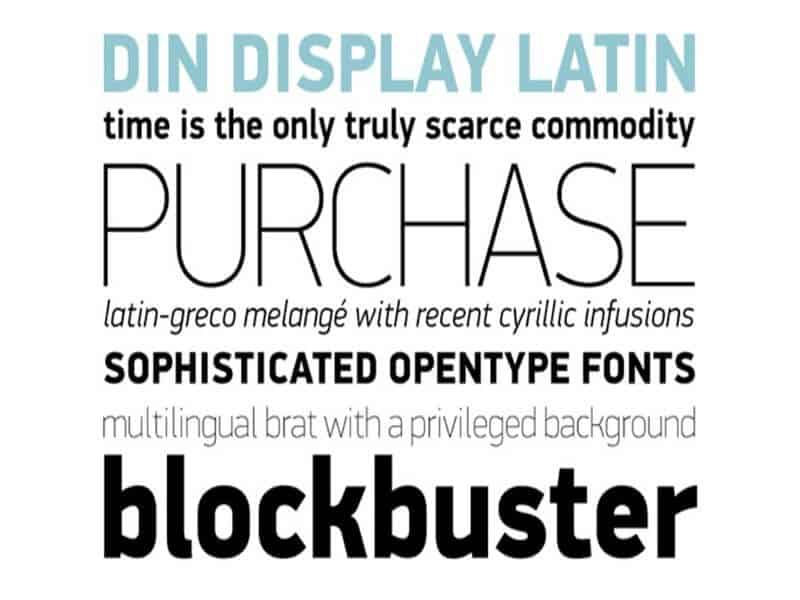 Download Din     [1926 - Ludwig Goller] font (typeface)