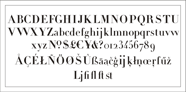 Download Didot     [1799 - Firmin Didot] font (typeface)