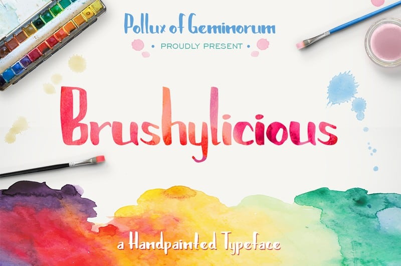 Download Brushylicious font (typeface)