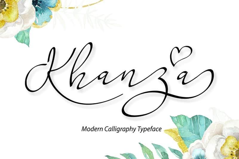 Download Khanza Script font (typeface)
